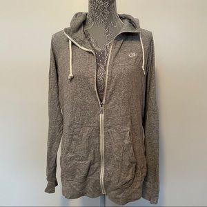 Nike light gray zip up jacket